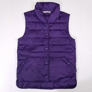Woolrich Purple Button-up Outdoor Vest w/ Pockets